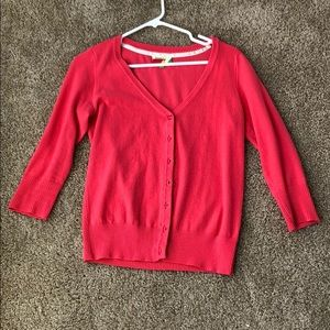 Coral charter school cardigan from ModCloth